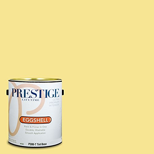 Prestige Paints P300-T-SW6908 Interior Paint and Primer in One, 1-Gallon, Eggshell, Comparable Match of Sherwin Williams Fun Yellow, 1 Gallon,