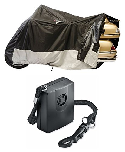 Guardian By Dowco - WeatherAll Plus Motorcycle Cover - XL - EZ Zip - with Dowco's Integrated 130 Decibel Alarm System (Plus Motorcycle Cover Weatherall)