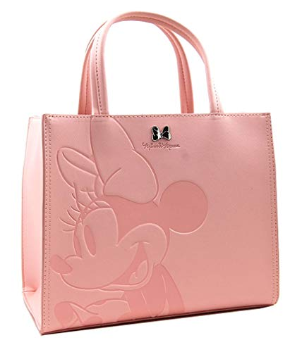 Loungefly Disney Minnie Mouse Faux Leather Saffiano Tote Bag Purse - WDTB1797 -