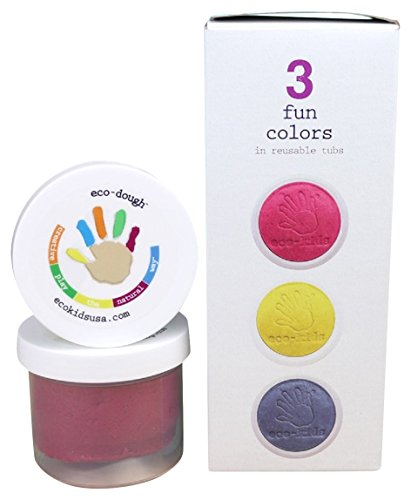 eco-kids Art Dough/Clay, 3 Piece made in New England