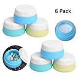 Silicone Travel Cosmetic Containers 20ml with Hard Sealed Lids, Leakproof BPA Free Portable TSA Approved Mini Jars for Makeup Lotion, Cream, Facial Cleanser, Pills, Vitamins, Medicine, Spices (6 Pack)