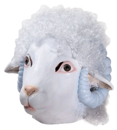 Deluxe Sheep Mask - Adult Std. (Bo Peep Costume For Adults)