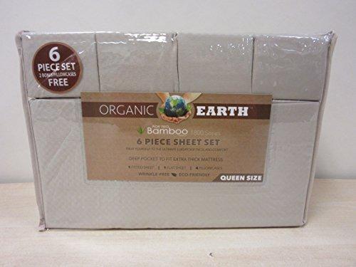 Organic Earth Aloe Vera Bamboo 1800 Series 6 Piece Sheet Set Queen