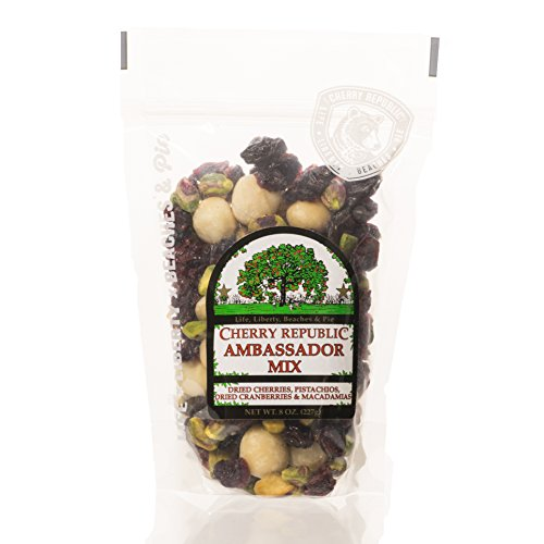 Cherry Republic Cherry Ambassador Mix Cherry Nut Mix - Nutrition-rich Trail Mix Featuring Tart Dried Cherries, Dried Cranberries, Green Pistachios & Macadamia Nuts - All-purpose Snack Mix - 8 Ounces