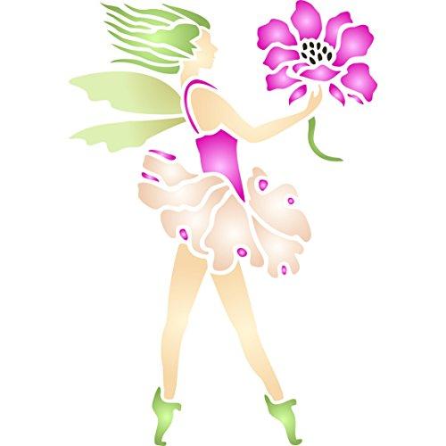 Flower Fairy Stencil - (size 5
