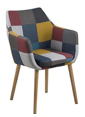 Esszimmerstühle bunt  designbotschaft: Stockholm Stuhl Patchwork - Bunt / Eiche ...
