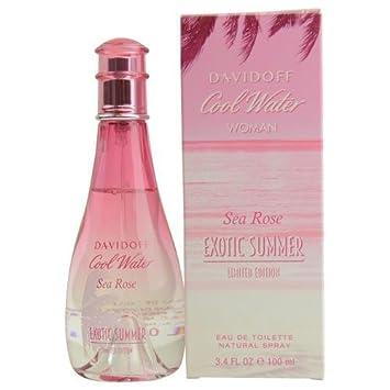Davidoff Cool Water Sea Rose Exotic Summer Eau De Toilette Spray for Women, 3.4 Ounce