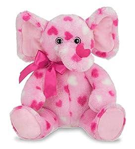 Bearington Manny Hugs Valentines Plush Stuffed Animal Elephant with Hearts, 11 inches