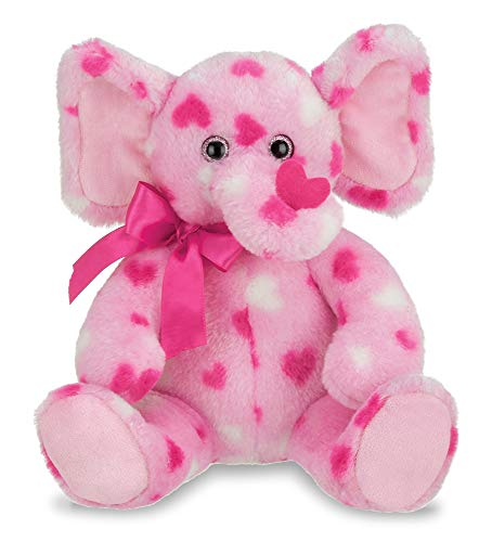 Bearington Manny Hugs Valentines Plush Stuffed Animal Elephant with Hearts, 11 - Valentine Animal Plush