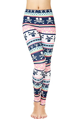 Thick Skull Patterned Leggings Tights for Women Petite Cute Halloween Party Costume XS - Cute Halloween Party Costumes