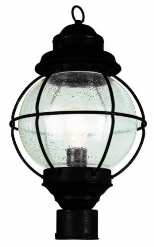 Trans Globe Lighting 69902 BK 1-Light Post Lantern, Black