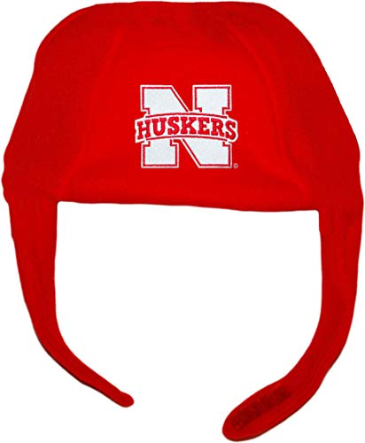Creative Knitwear University of Nebraska Huskers Polar Fleece Chin Strap Beanie Red