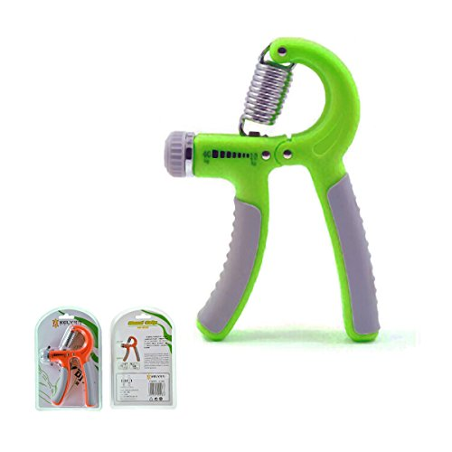 Yougle Adjustable Hand Grip Gripper Strengthener Training Forearm Muscle and Finger Strength Exerciser Developer (Green) (green)