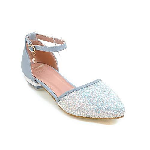 36 5 BalaMasa Femme EU Sandales Bleu Compensées Bleu APL10526 q0gqaY