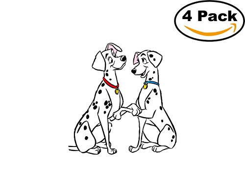 101 Dalmatians 4 Stickers 4x4 Cartoon Car Bumper Window Sticker Decal_157