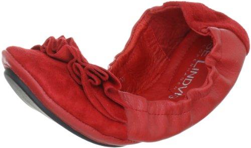 Lise Lindvig DOT 00800315 - Bailarinas de cuero para mujer, color beige, talla 39 Rojo (Rot (Red))