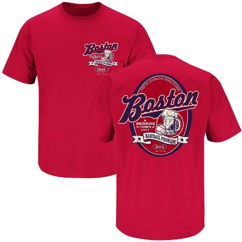 Boston Drinking Town Red T-shirt (X-Large) ()