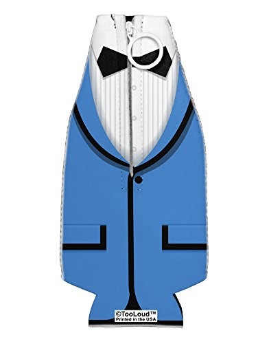 (TooLoud Blue Tuxedo Suit Costume Collapsible Neoprene Bottle Insulator All Over)