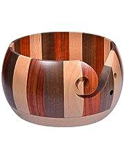 Garta Wooden Yarn Bowl Wood Crochet Knitting Wool Tool Holder Organizer Storage Bowls
