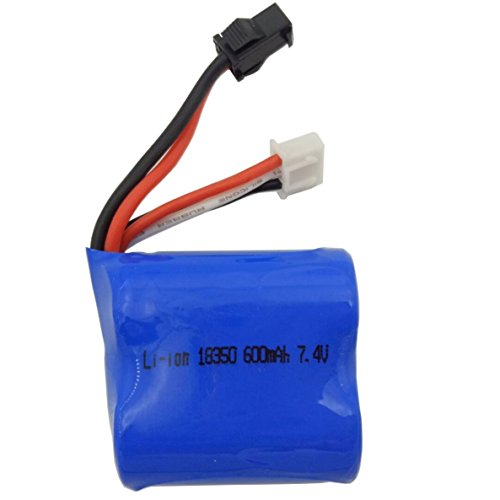 7.4V 600mAh High Quality Rechargeable Li-ion Battery Replacement Part Works with Haktoys HAK606 RC Boat and other Compatible RC Hobby (Hobby Boats)