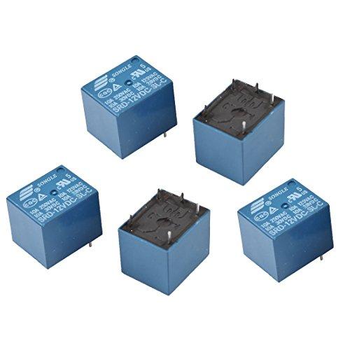 SRP-12V DC 12V Coil PCB Power Electromagnetic Relay 6 Pins SPDT 5pcs