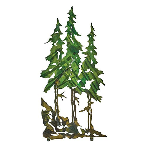 Next Innovations Three Pines Metal Wall Art Decor - Laser Cut Steel - 10
