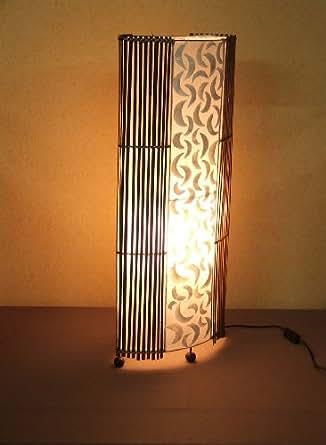 Lámpara de pie asiatica Penida White (LA12-64/WE ...