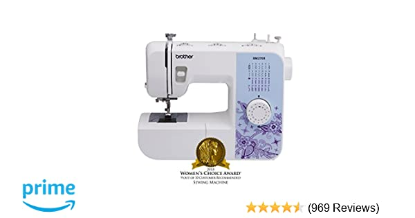 Amazon.com: Brother Sewing Machine, XM2701, Lightweight Sewing Machine with 27 Stitches, 1-Step Auto-Size Buttonholer, 6 Sewing Feet, ...