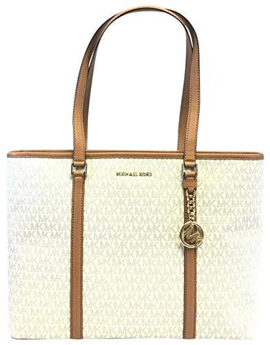 Michael Kors Sady Large Multifunction Zip Tote Bag (Vanilla Acorn)