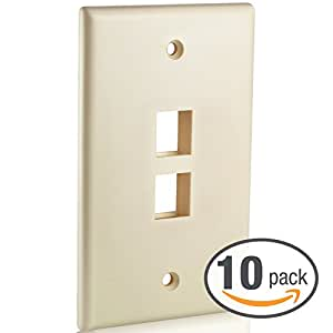 Mediabridge Keystone Wall Plate (2-Port, Almond) - 10 Pack (Part# 51W-202-10PK )