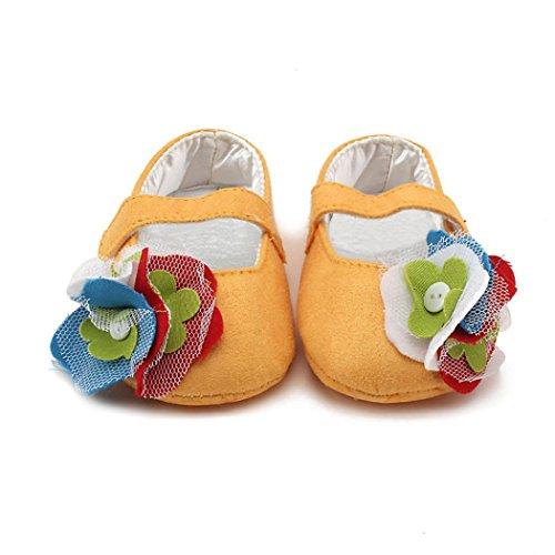 Tefamore Zapatos Calza los de bebé de la Zapatilla de deporte Suave de la muchacha del niño Amarillo