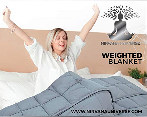 Cheap Nirvana Universe Weighted Blanket (15lbs 48 x 72 Full Size) 100% Cotton BPA and Lead Free Glass Beads 7 Layer Weighted Blanket. Simulating a Hug from Your Loved Ones Black Friday & Cyber Monday 2019