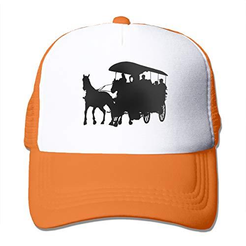 Coach Adult Mesh - A Coach and Horses Adult Mesh Cap Adjustable Snapback Hats Orange