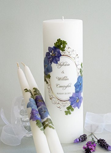 Floral Vintage Hydrangea Wedding Unity (Traditional Unity Candle)
