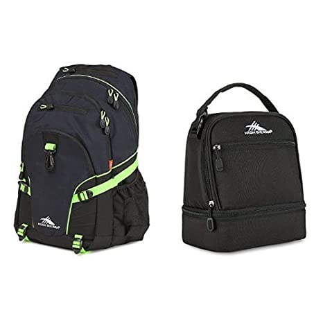 a7981e895ab122 Amazon.com : High Sierra Loop Backpack, Midnight Blue/Black/Lime and ...