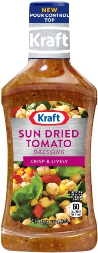 Kraft Sun Dried Tomato Vinaigrette Dressing & Marinade, 16-Ounce Plastic Bottles (Pack of - Sun Tomato Dried Marinade