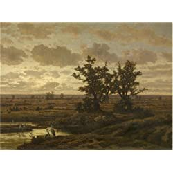 Oil Painting 'Jean Pierre Francois Lamoriniere - Marsh Near Putte, 19th Century' Printing On High Quality Polyster Canvas , 18x24 Inch / 46x62 Cm ,the Best Laundry Room Artwork And Home Decor And Gifts Is This Cheap But High Quality Art Decorative Art