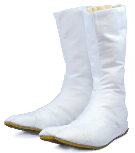 Halloween White Japanese Ninja Tabi Shoes/boots!! w/ Travel Bag ! 30cm (Us - Tabi Fashion