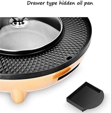 Marmite électrique multi-fonctions pour rôtir une casserole Poêle en une seule pièce Sans fumée Barbecue électrique antiadhésif.