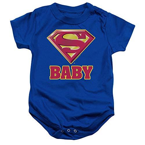 Popfunk Superman Super Baby Onesie Bodysuit, 24 Months