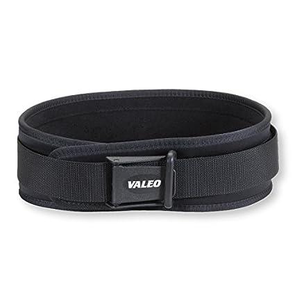 Valeo Cintur/ón para halterofilia color negro