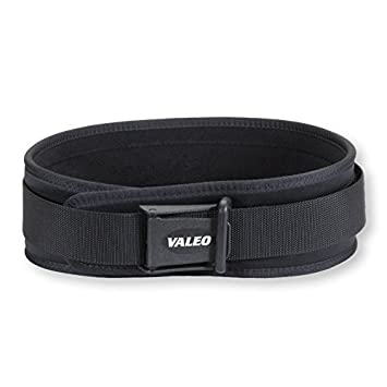 Valeo VCL4 4 Padded Weightlifting Lifting Belt with Brushed Tricot Lining and Cam Buckle