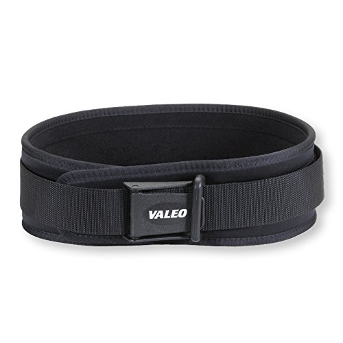 Valeo Washable VCL Competition Classic 4-Inch Lifting Belt With Patented Cam Buckle and Locking Torque Ring Closure, Medium