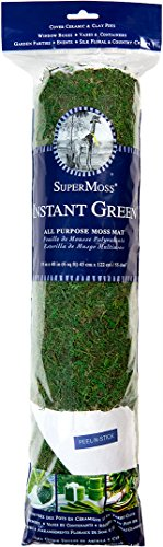 Super Moss (22401) Instantgreen Moss Mat, Peel N Stick, 18 x 48in, Fresh green