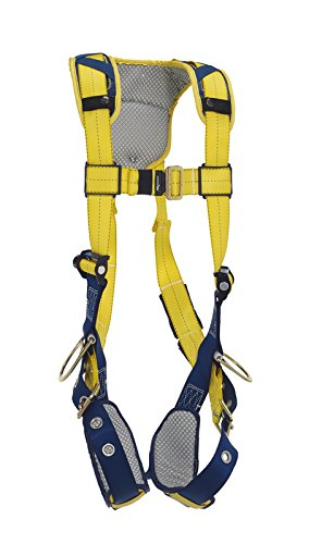3M DeltaComfort 1100847 Fall Arrest Kit with Back/Side D-Rings, Tongue Buckle Leg Straps and Comfort Padding, Large, Navy/Yellow by 3M Fall Protection Business (Image #1)