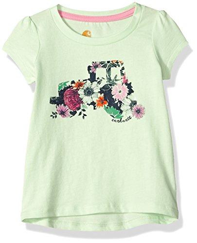 (Carhartt Baby Girls Short Sleeve Tee, Patina Green, 18M)