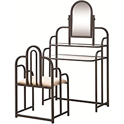 2-piece Vanity Set Tan and Bronze