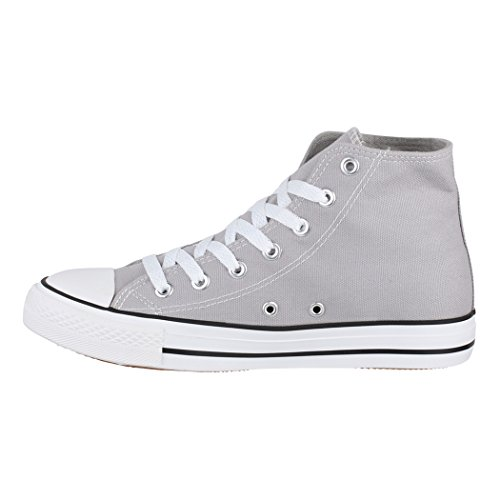 Tissu fällt Top Unisexe Sneakers Loisirs Lt Basic Aus Sport High Größer De Chaussures grey Elara q01d7wp0