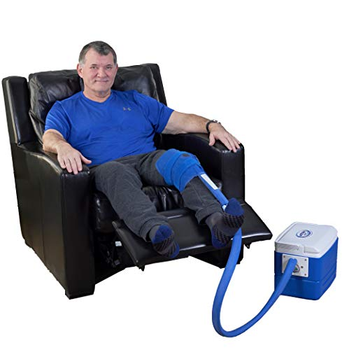 Polar Products Active Ice 3.0 Knee & Joint Cold Therapy System with Digital Timer Includes Knee Bladder, 9 Quart Cooler (Best Ice Pack After Knee Surgery)