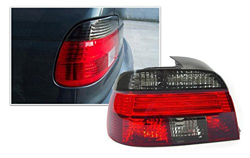 Bimmian DRL39TCHX Depo Clear And Smoked Tail Light Lenses For BMW 5 Series Touring Wagon 1997-2000 - E39 ()